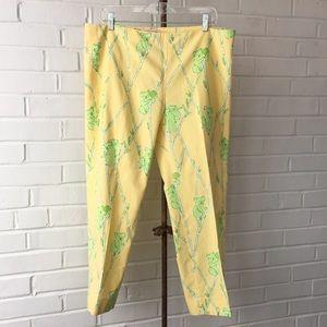 Lilly Pulitzer Originals Yellow Koala Pants Sz 14